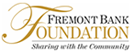 Logo for Fremont Bank Foundation tagline Sharing with the Community